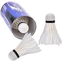 6-Pack Advanced Nylon Federb/älle Mittelschnelle Badminton B/älle mit gro/ßer Stabilit/ät und Haltbarkeit Indoor Outdoor Sports High Speed Badminton B/älle spielen