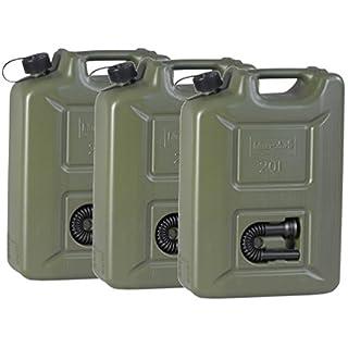 3x Benzinkanister 20 Liter Kraftstoff Kanister olivgr¨¹n 20L UN-Zulassung Diesel