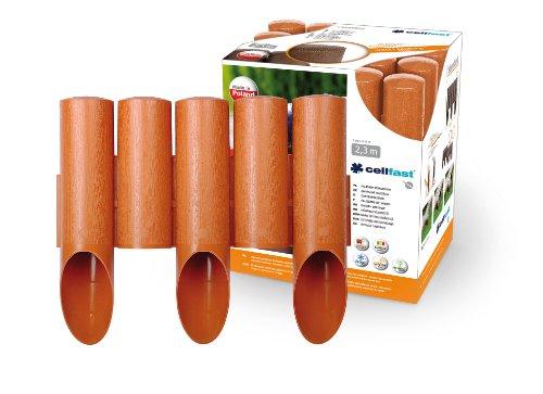Giardino prato border bordi - effetto legno edgers prato 2,3 m, palizzata colore marrone