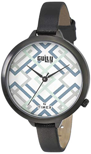 Gully by Timex Prints Analog White Dial Women's Watch-TW013HL19