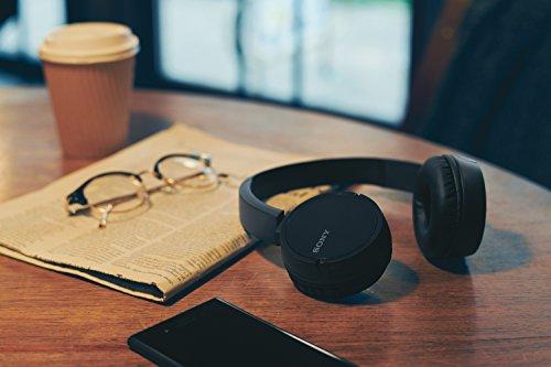 Sony WHCH500B.CE7 - Auriculares inalámbricos de Diadema, diafragma de 30 mm, Manos Libres