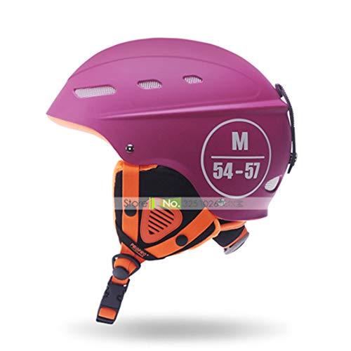 Marke Mann/Frau / Kinder Skihelm Winter Velure Snowboard Helm Moto Bike Skier/Schlitten Sport Sicherheit Roller-Skating Skateboard Maske Pink L 58-61cm