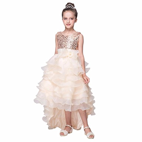 Elecenty Prinzessin Kleid Mädchen,Baby Tüllkleid Kinder Partykleid Cocktailkleid Trailing...