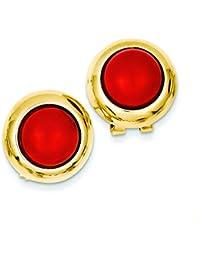 Weißgold Omega, Ohrringe JewelryWeb Anhänger aus Koralle