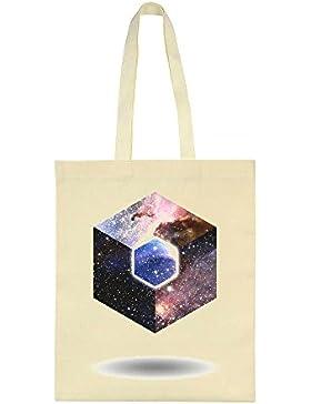 Universe Hexagon Canvas Tote Bag