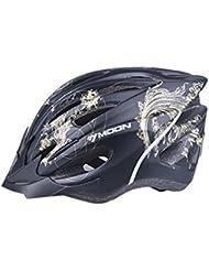 HYF-Aegis Casco de alta calidad EPS resistente a los impactos con luces de advertencia, casco de bicicleta de carretera / montaña con redes de insectos, equipo de protección para bicicletas deportivas , black