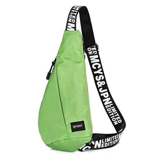FEITONG Sling Randonnée Chest Sacs Unisexe épaule étanche Messenger Déséquilibre Backpack Vert