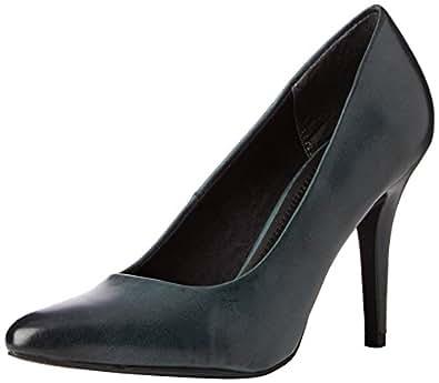 Marco Tozzi  22418, Chaussures à talons - Avant du pieds couvert femmes - Vert(Petrol Antic 705), 39 EU
