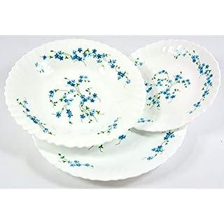 Arcopal 18pc VERONICA Dinner Set ( 6 plates each in 25cm / 23cm & 19cm Dinner plates, soup plates and dessert plates ) NEW DESIGN