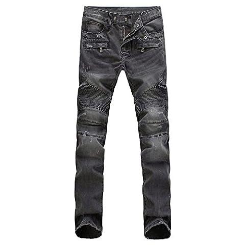Chouette Homme Jeans Basique Droit Pantalon Slim Legging Stretch Collant