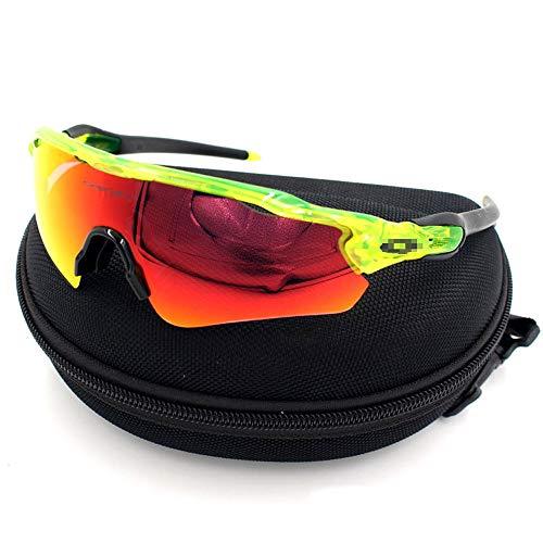 H.Y.B. Radfahren Sonnenbrillen Polarisierte Sport-Sonnenbrillen-Schutzbrillen Motorrad-Schutzbrillen Lenes für Männer Frauen Radfahren Fahren Sport (Color : 3, Size : One Size)