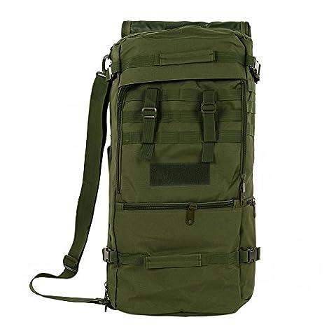 S-ZONE Sac sport 60L multi-fonctionnels etanche assaut militaire tactique Molle Sac à dos Fourre-tout sacs à main pour Voyage