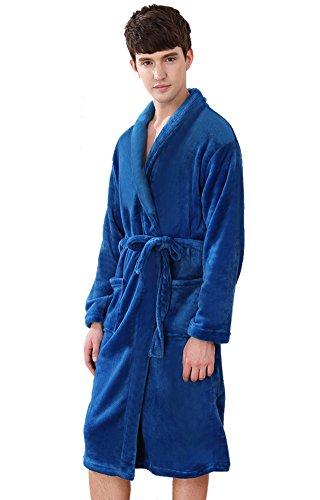 Spandex Knit Pants (Insun Herren Bademantel Gr. One size, blau)