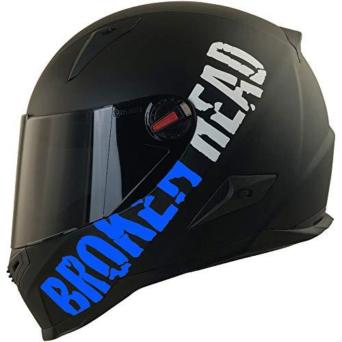 Broken Head BeProud blau Ltd. | Motorradhelm inkl. schwarzem Visier - schwarz-matt (XL 61-62 cm)
