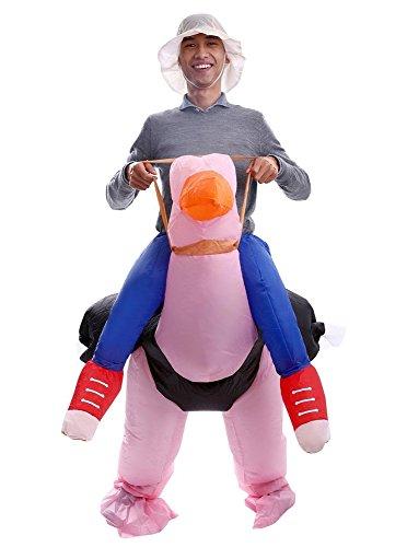 Aufblasbares Erwachsenes Kostüm Strauß Sprengen Fasching Karneval (Aufblasbares Strauß Kostüm)
