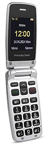 Doro Primo Téléphone portable GSM avec appareil photo 0,3MP, fonctions Bluetooth et lampe de poche