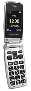 Primo 405 by Doro silber GSM Mobiltelefon (0,3 MP-Kamera, Bluetooth, Taschenlampe)