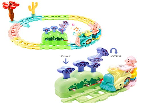 Mingzheng Eisenbahn Zug Set Spielzeug Batterie betrieben mit Musik Licht für 2-8 Jahre alte Kinder -