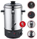 DMS® 8 L Glühweinkocher Glühweinautomat Wasserkocher Heißwasserspender Kocher Glühweinkessel Kessel 1800 Watt Einkochautomat TK-8 Test