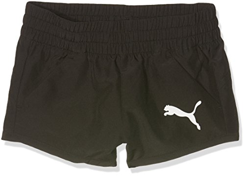 Puma Mädchen Active Dry Ess Wovenshortsg Hose, Black, 128 (Active-logo-shorts)