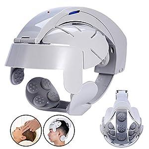 Elektrische Kopfmassagegerät Helm, Gehirn entspannen Akupunkturpunkte Vibration Stress Release Vibrationsmassagegerät Gehirn Auge Hals Akupressur Massage