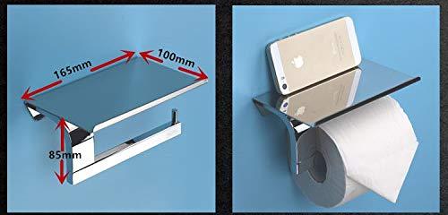 LHbox Tap Edelstahl Handtuchhalter in der Wand, Handtücher, Badehandtücher, Bad, Eck-Rack The Mobile Phone Flat Paper Towel Rack -