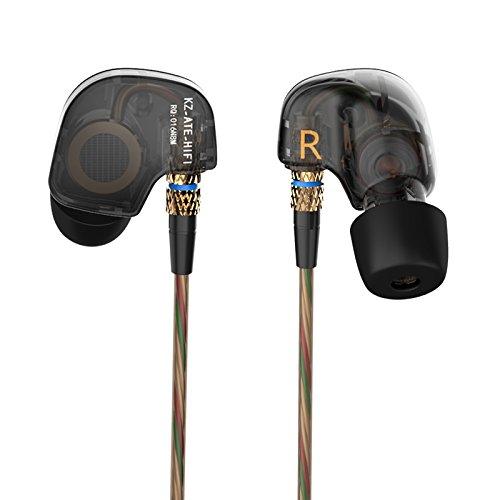 Auricolari Cuffie,Ollivan KZ-ATE 3.5mm alta fedeltà In-Ear Stereo Headset con Vivavoce, Design avanzato di Funzione di Enhanced Bass rumore canceller Per iPhone, Samsung, Huawei, Android (Audio d'Ottone)