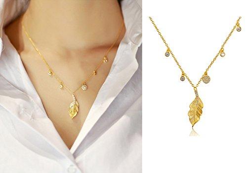 star-sands-de-collar-con-colgante-hoja-de-otono-plata-925-chapado-en-oro