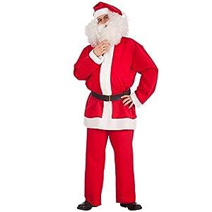 Carnival Toys 27008-Disfraz de Papá Noel con cinturón, L XL, Rojo