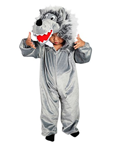 Wolf- Kostüm-e Kind-er F49 Gr. 122-128, Kat. 1, Achtung: B-Ware Artikel. Bitte Artikelmerkmale lesen! Tier-e Wölfe- Mädchen Junge Kleinkind- Faschings- Karnevals- Fasnachts- Geburtstags- Geschenk-