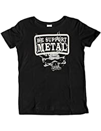 """Wacken Foundation"" T-Shirt for WOMAN ""we support metal"" cover up SCRULL"