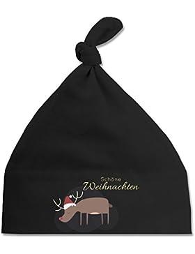 Weihnachten Baby - Schöne Weihnachten Elch Weihnachtsmütze - Baby Mütze mit einfachem Knoten als Geschenkidee
