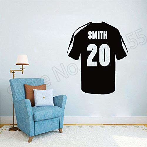 Personalisierte Home Jersey (Zhuhuimin Fototapete Fußball Fußball Benutzerdefinierte Jersey Name Anzahl Kinder Personalisierte Name Kunst Vinyl wandaufkleber Kunstwand 1 57x68 cm)