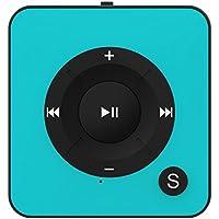 Bertronic MP3-Player 16 GB Royal BC05 – Clip, Sport, Fitness Player mit USB Kabel, 15 Stunden Wiedergabe, microSD Kartenslot für bis zu 32 GB Türkis