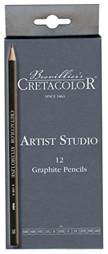Cretacolor–k140.12–Set 12Bleistifte Graphit–Bunststifte