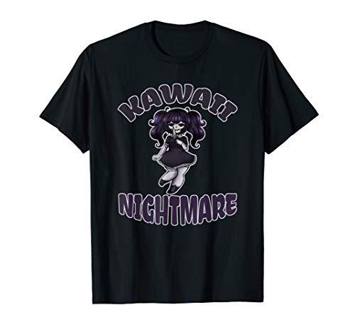 Kawaii Nightmare Cute Yandere Halloween Cute Gothic Anime T-Shirt