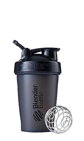 Blender Bottle Unisex Classic Loop Protein Shaker Bottle, Black, 590 ml