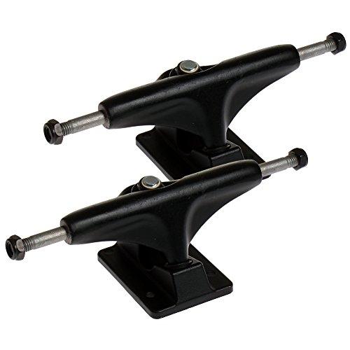 2 Stück 190mm FunTomia® Aluminium Skateboard Achsen in Schwarz / Achsstiftbreite: 190mm / Hängerbreite: 123mm (Schwarz)