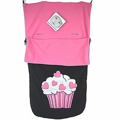 Snuggle saco/Cosy Toes Compatible con Buggy de Graco Stadium Duo Quattro Mirage Evo–Cupcakes