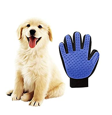 HORIZONTAL Gentle Efficient Pet Grooming Clean Massage Gloves Hair Remover Brush
