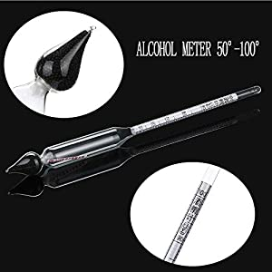 TINGSU Alkoholmeter 50°-100° – Alkoholmeter Alkoholmeter Hydrometer Turbo Hefe Wodka