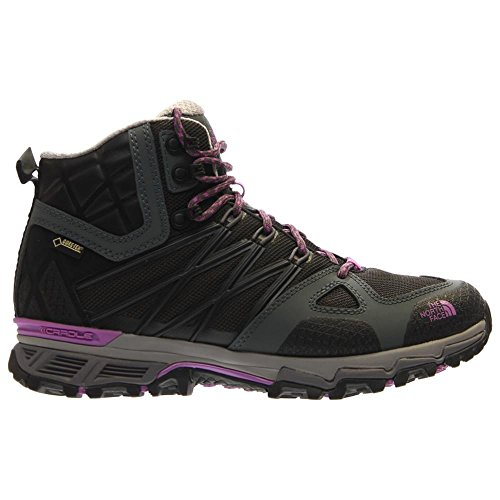 The North Face W Ultra Hike Ii Mid Gtx, Chaussures de Randonnée Femme Noir - Negro (TNF Black / Sweet Violet)