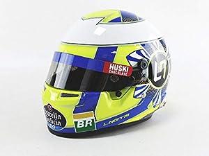 Mini Helmet 4100010 - Coche en Miniatura, Color Amarillo, Azul y Blanco