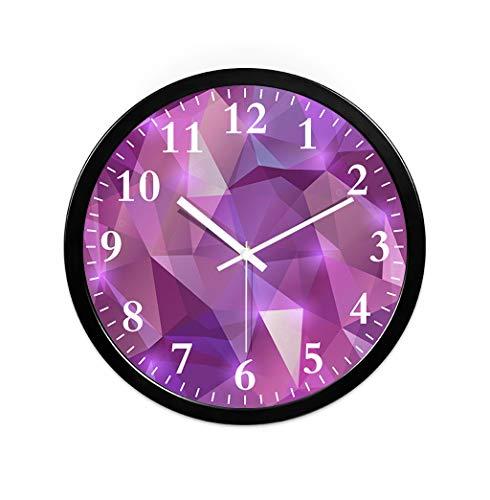 CHANG-dq Reloj de pared redondo del marco metálico de la forma, sala de la princesa Sitio de la danza Sitio de la yoga Tienda de ropa Tienda de cosméticos Reloj de pared 30.5-35.5CM decoración de pare