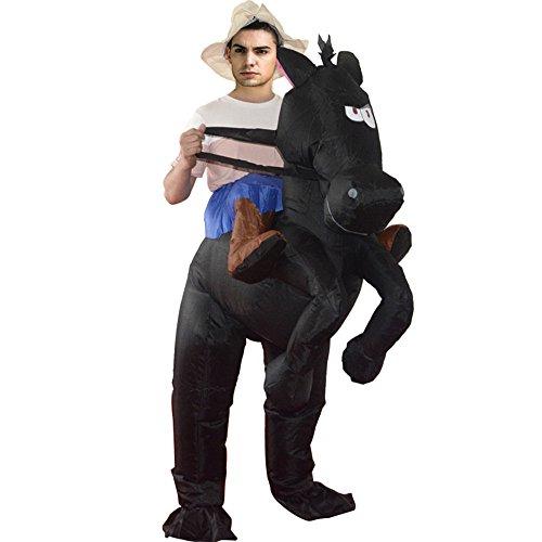 TOPmountain Polyester 1 Stück Horse Rider Kostüm Outfit Aufblasbares Pferd Reiter Kostüm Outfit Horse Rider Erwachsene Aufblasbare Outfit Erwachsene Pferd Reiter Kostüm aufblasbar (Für Erwachsene Pferde Kostüm)