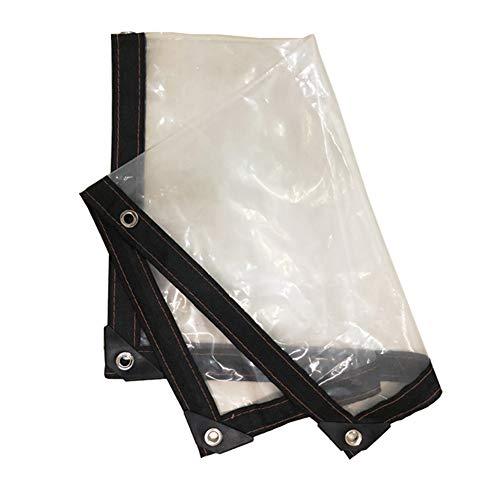 YANGJUN-Plane Draussen Durchsichtiges Verdicktes PE-Sonnenschutzmittel Winddichtes Kälteschutz-Isolationstuch, 19 Größen (Farbe : Klar, größe : 2x2.5m) -
