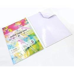 10 láminas de vinilo A4 impresas (no aptas para impresoras de inyección de tinta) impermeables (PVC) blanco brillante autoadhesivo de calidad hojas