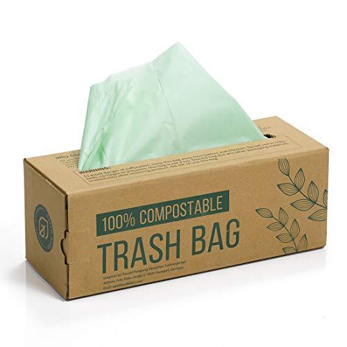 Green maker 150 sacchetti fodere contenitore concime 6l 8l 10l sacchetti di rifiuti alimentari da cucina sacchetti biodegradabili al 100% a base di amido di mais con certificazione en13432 (10l)