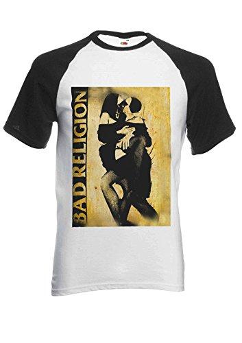 PatPat Store Bad Religion Kissing Nun Novelty Black/White Men Women Unisex Short Sleeve Baseball T Shirt-S