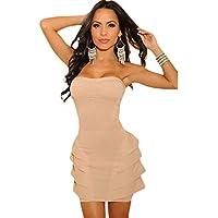 Toocool - Miniabito bandeau donna vestitino vestito raso abito moda dress DL-700